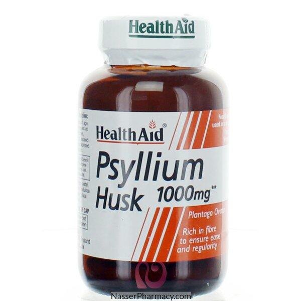 هيلث ايد  Health Aid نبات قشر السيليوم 100 مجم - 60 كبسولة نباتية