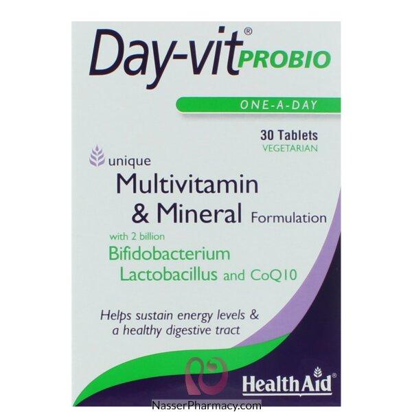 هيلث ايد ( Health Aid Day-vit Probio ) مجموعة فيتامينات و معادن - 30قرص