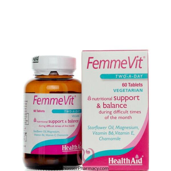 هيلث ايد  (health Aid Femmevit)  فيتامينات و معادن لأيام الدورة الشهرية - 60قرص