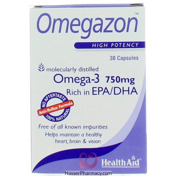 هيلث ايد  Health Aid  Omegazon  مكمل غذائي  30 كبسولة