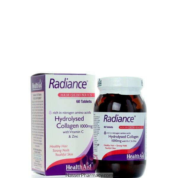 هيلث ايد Health Aid Radiance كولاجين مع فيتامين سي & زنك - 60قرص
