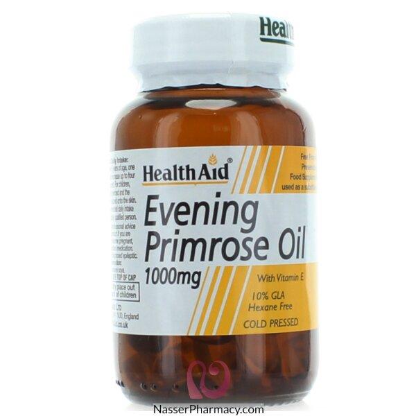 هيلث ايدhealth Aid    بريمروز مكمل غذائي مع فيتامين اي - 30كبسولة