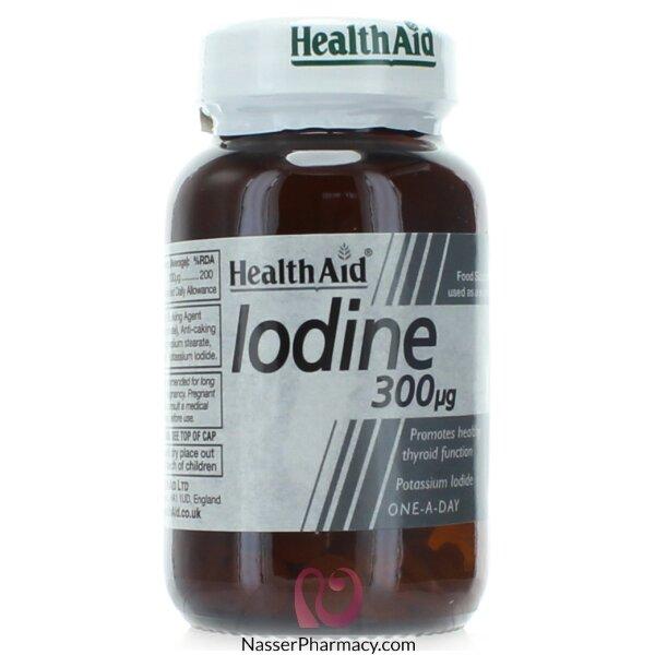 هيلث ايدhealth Aid مكمل غذائي يود  300ميكروجرام - 60قرص