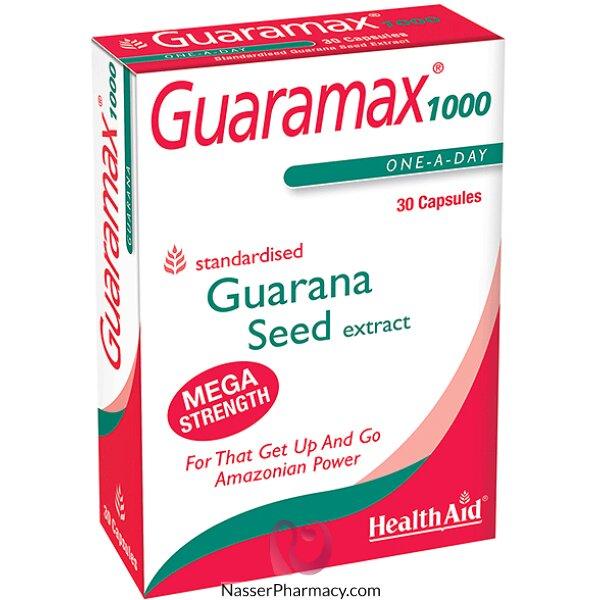 هيلث ايدhealthaid Guaramax مكمل غذائي لتعزيز الطاقة - 30 كبسولة