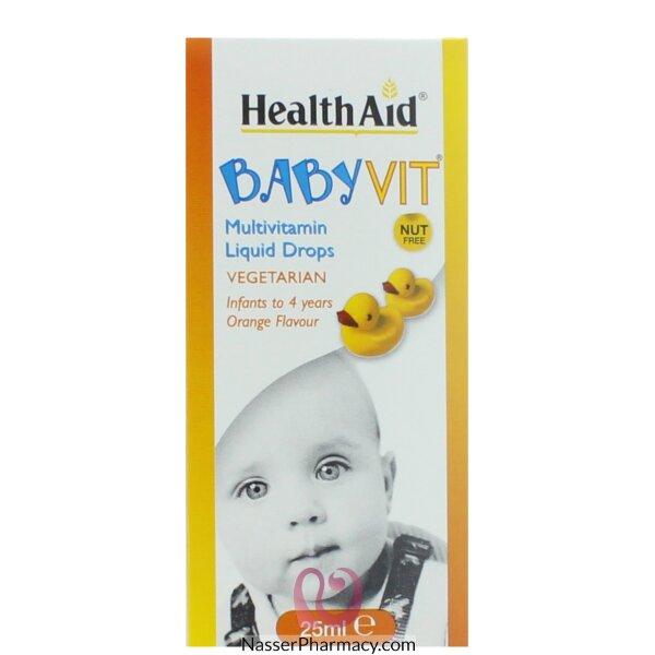 Health Aid Baby Vit Liquid Drops  -25ml Orange Flavor