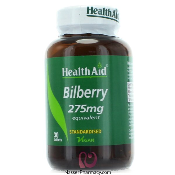 Health Aid Bilberry Berry   Extract 275mg  - 30tablets