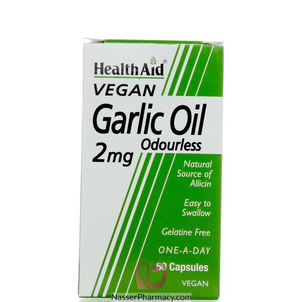 Health Aid Garlic Oil Odoreless 2mg - 60capsules