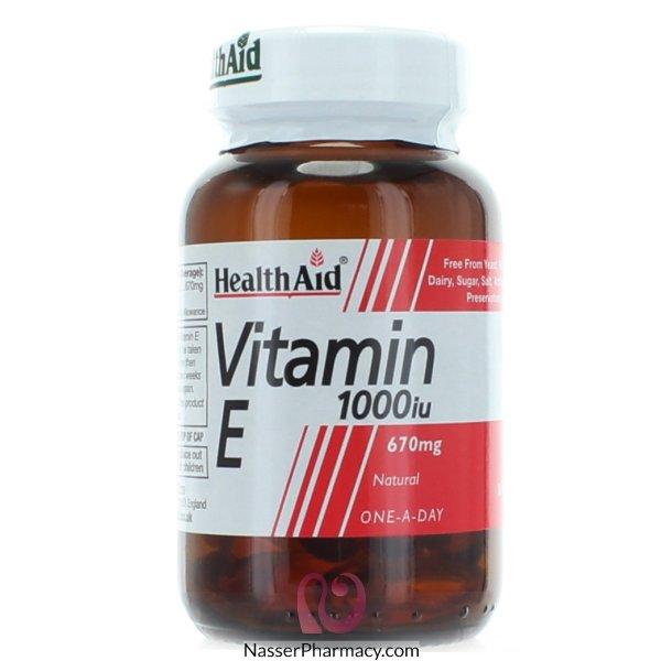 Health Aid Vitsmin E 1000 Iu Natural -  30capsules