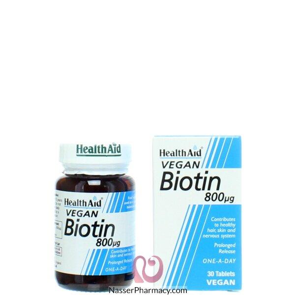 Healthaid Biotin 800µg - 30 Tablets