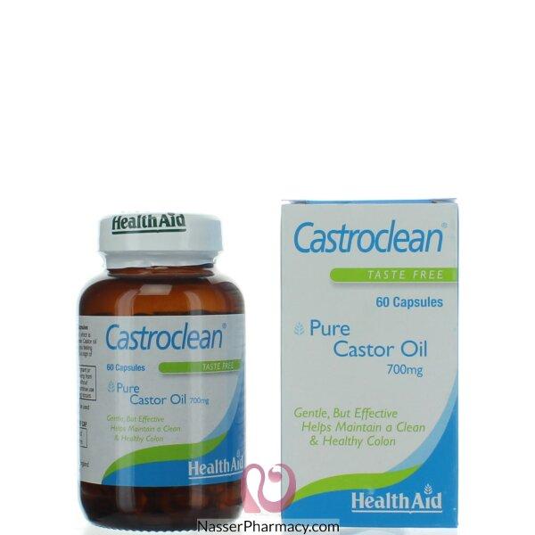 Healthaid Castroclean (castor Oil) 700mg 60&#39s Capsules
