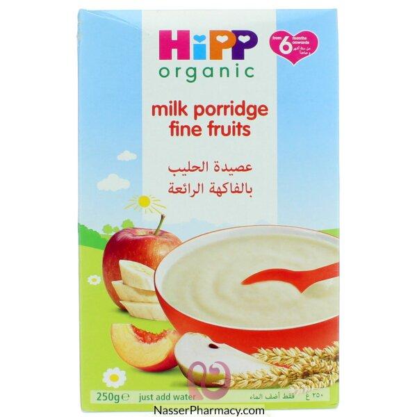 هيب Hipp  أورجانيك عصيدة الحليب مع الفواكة 160 جرام