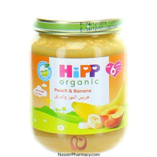 هيب Hipp حلو الموز والدراق من مكونات عضوية 125غرام