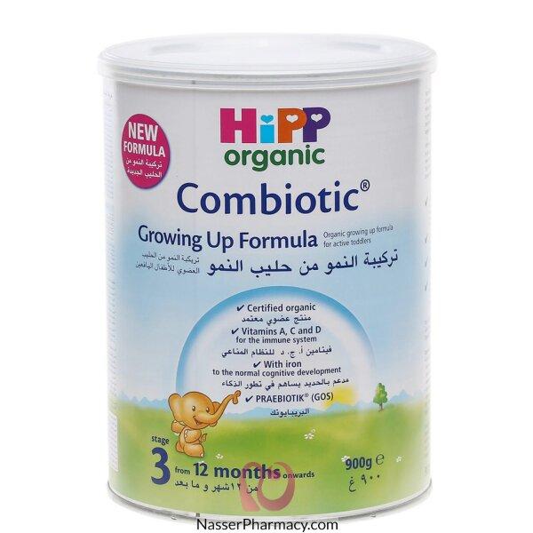 هيب Hipp حليب الأطفال العضوي بتركيبة النمو المرحلة الثالثة 900 جرام