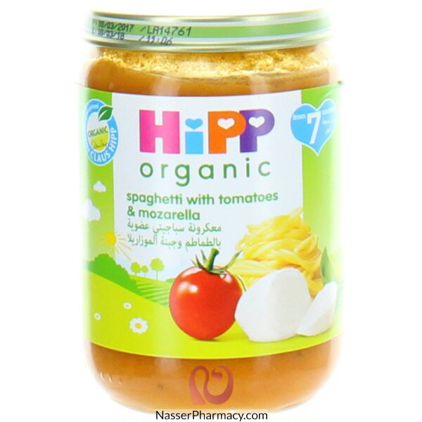 Hipp Organic Spaghetti With Tomatoes & Mozzarella (190 Grams)