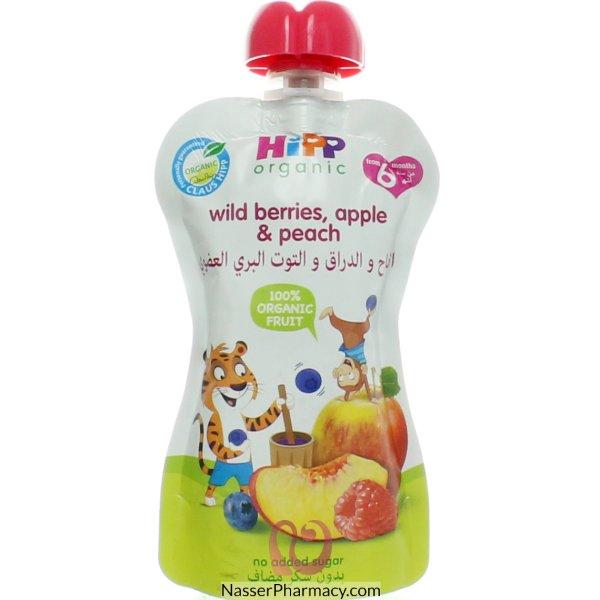 Hipp Peach,apple,b.berry,r.berry 4x90g