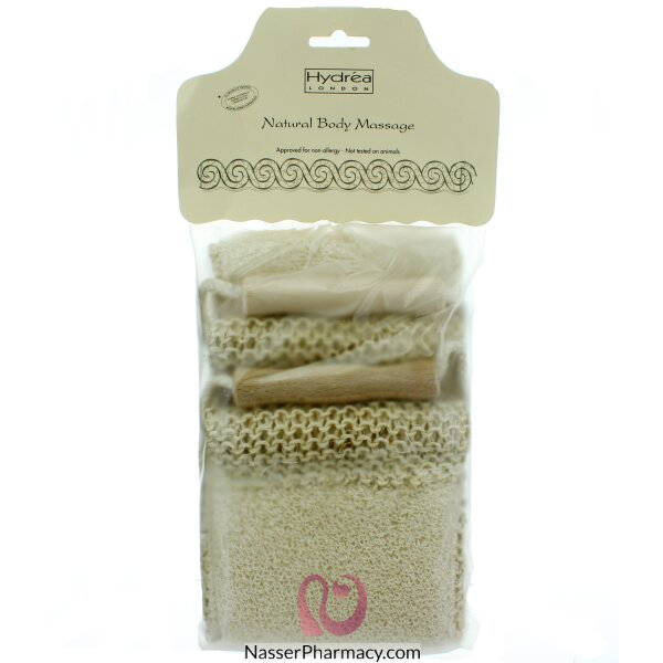 Hydréa London Sisal & Cotton Exfoliation & Massage Duo Strap