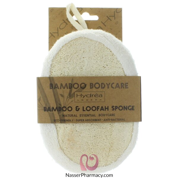 Hydrea London Bamboo And Loofah Exfoliating Sponge