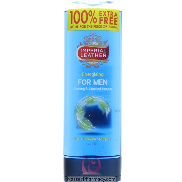 Imp Leath S/gel Men 100% Free Energ 500ml-65631