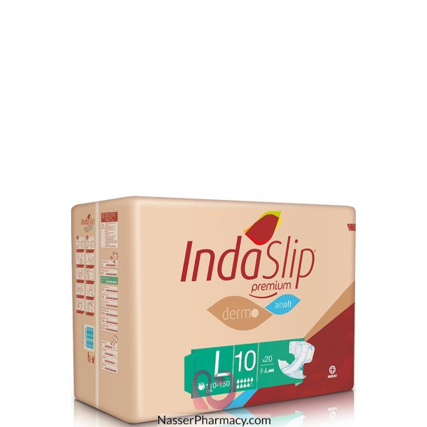 Indaslip (l10) Prem. Adult Diapers 20's (110-1505c