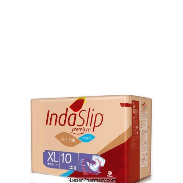 Indaslip (xl10) Prem. Adult Diapers 20's (up Uo 17