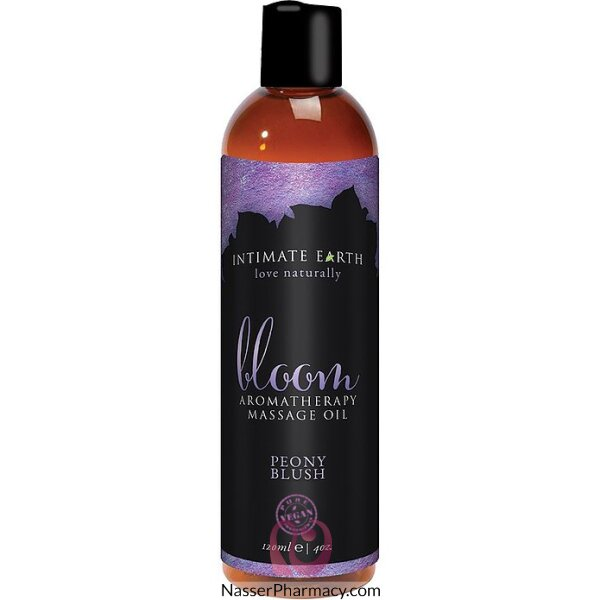 Intimate Organics Bloom Aromatherapy Massage Oil Peony Blush 120 Ml