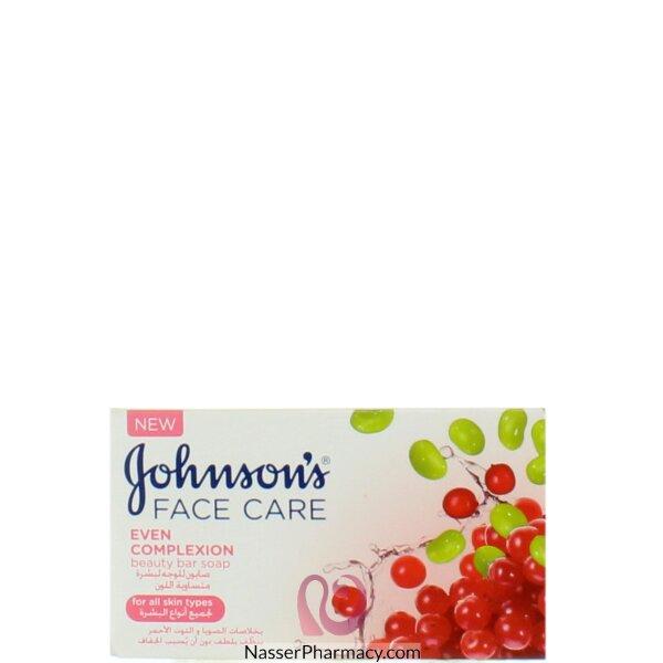 جونسون  Johnson's صابون الوجه لتوحيد لون البشرة 100 جرام