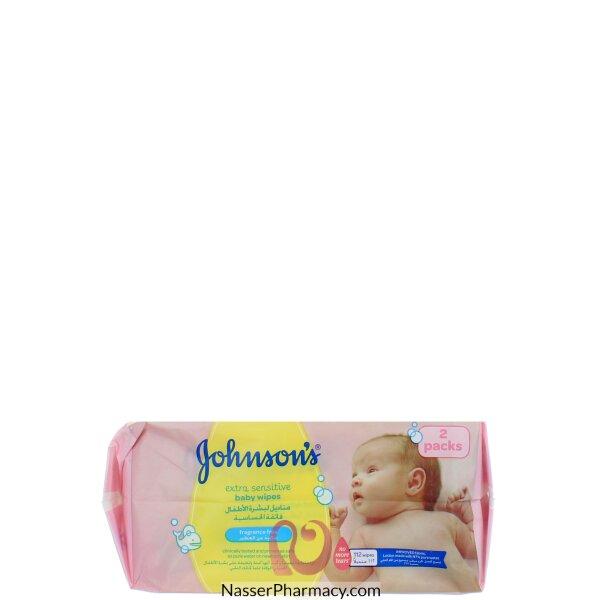 Johnson&#39s Baby Extra Sensitive Wipes 112 S