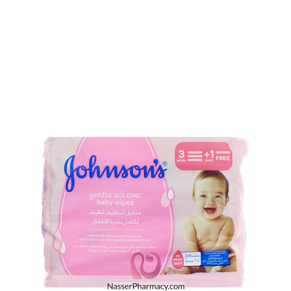 Johnson's  Gentle All Over Baby Wipes 224 S