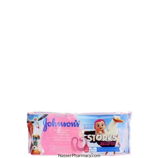 Johnson's  Gentle All Over Baby Wipes  56&#39s