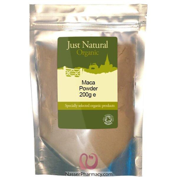 جست ناتشورال Maca Powder مسحوق  عشبة الماكا الطبيعية 200 جرام
