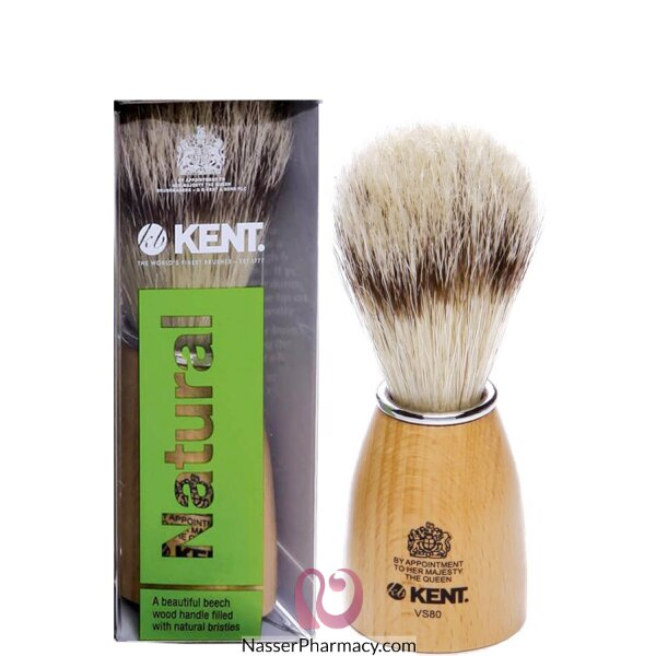 Kent Wooden Barrel Imitation Badger Shaving Brush Large-vs70