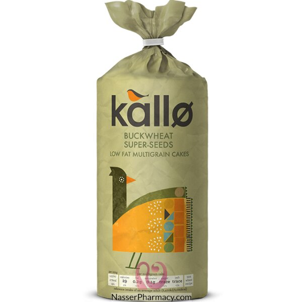 كالو  Kallo  كيك الأرز بالحنطة السوداء  متعدد الحبوب منخفض الدهون 130 جرام