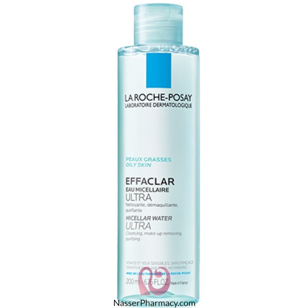لاروش بوساي La Roche-posay  مياه ميسيلار المنقية للبشرة الدهنية والحساسة-200 مل