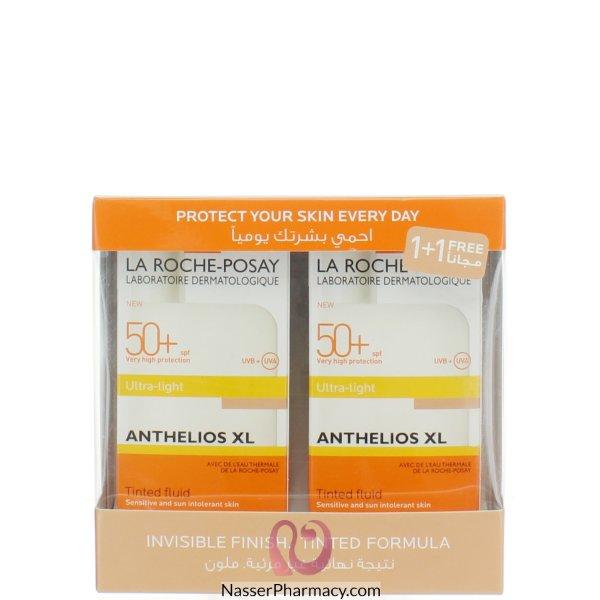 لاروش بوساي (la Roche-posay Anthelios Xl ) عرض واقي من الشمس ملمس خفيف بلون عامل حماية +50 - 50مل