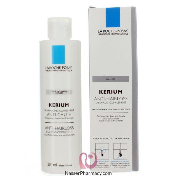 لاروش بوساي La Roche Posay Kerium   شامبو فيسيوليجي مع مياه الينابيع الحرارية لعلاج تساقط الشعر - 200مل