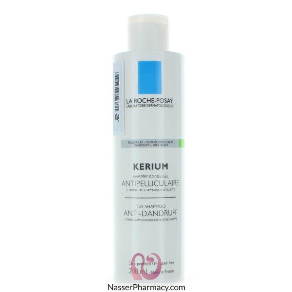 لاروش بوساي (la Roche-posay Kerium) شامبو مضاد للقشرة لفروة الرأس الدهنية - 200مل
