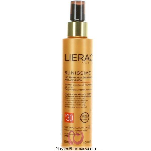 ليراك Lierac حليب واقي منشط  ومقاوم لعلامات تقدم سن البشرة  بعامل وقاية 30 (150 مل)