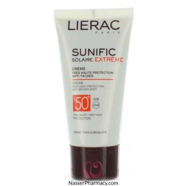 ليراك Lierac Sunific  كريم واقي من الشمس عامل حماية +50 مع واقي من البقع البنية - 50مل
