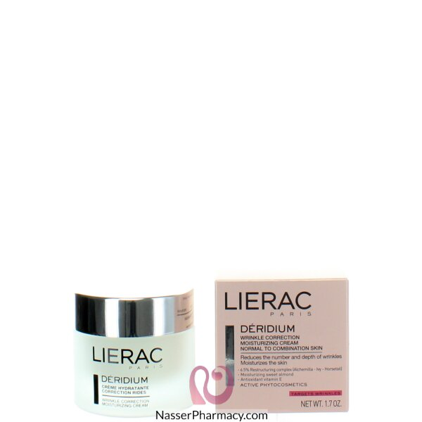 Lierac Deridium Wrinkle Correction Moisturizing Cream (for Normal To Combination Skin) 50 Ml