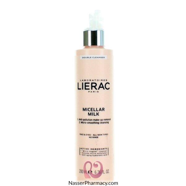 Lierac Double Nettoyant Lait Micellaire Micellar Milk Double Cleanser  200ml