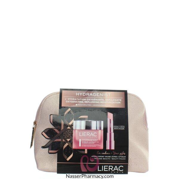 Lierac Hydragenist Extreme Moisturizing Balm & Pink Plus Lips Balm +beauty Pouch