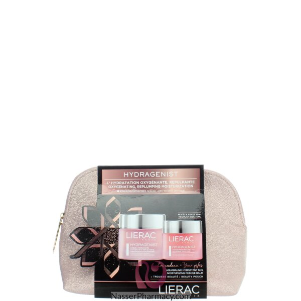 Lierac Hydragenist  Moisturizing Cream And  Aqua Baume Hydratant Sos+beauty Pouch