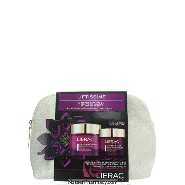 Lierac Liftissime Nutri Day & Night Rich Reshaping Cream &redensifying Sculp Cream+beauty Pouch
