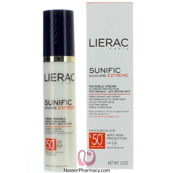 Lierac Sunific Invisible Cream Ip50+-high Prot Anti Wrnkls