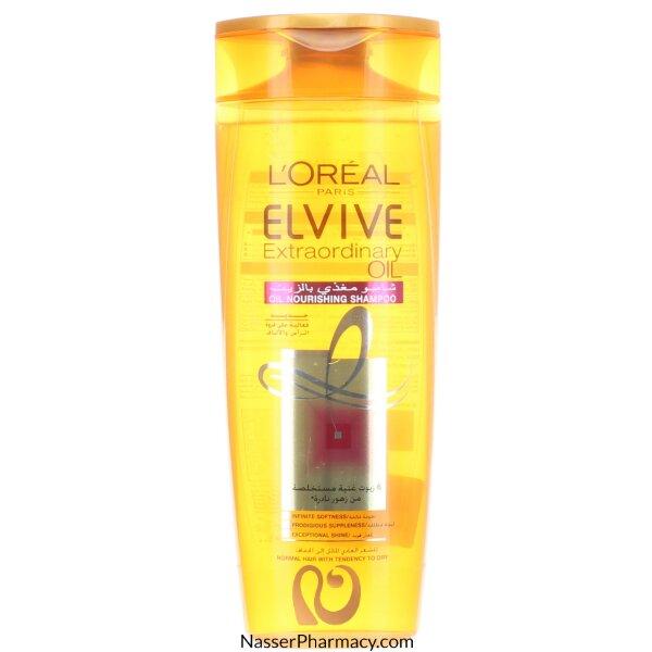 لوريال الفيف  L'oreal Elvive- للشعر العادي المائل الى الجفاف شامبو مغذي بالزيت 400 مل