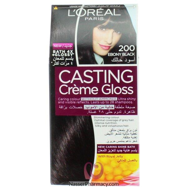 لوريال كاستنج  L&#39oreal Casting   صبغة للشعر أسود 200