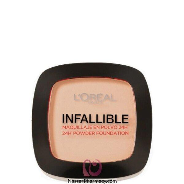 لوريال L&#39oreal بودرة أساس انفاليبل  Infallible  تدوم 24 ساعة،  لون الفانيليا الدافئة 123 Warm Vanilla