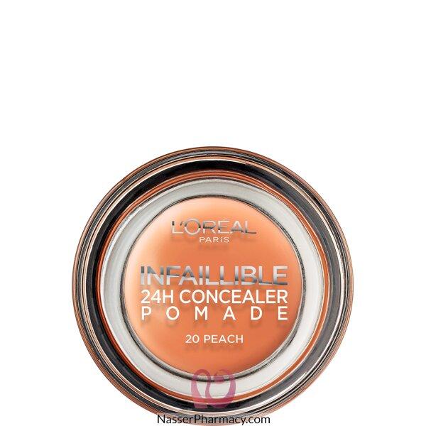 لوريال L&#39oreal بوميد Pomade خافي العيوب، لون خوخي 20 Peach، وزن 15 جم