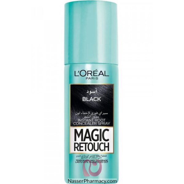 L'oreal Magic Retouch Instant Root Concealer Spray 75ml - 1 Black
