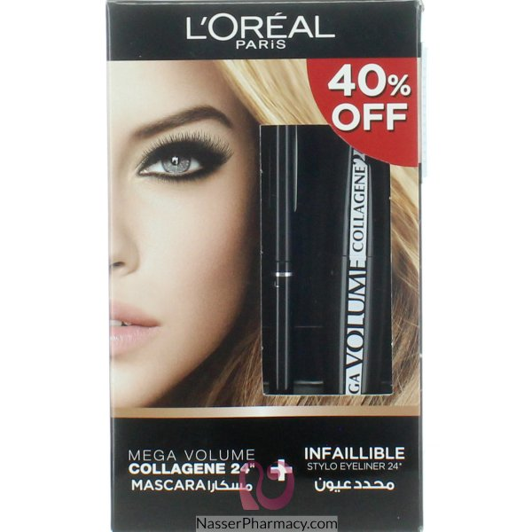 893c36839d8 Buy L'OREAL MEGA VOL COL 24HRS + INFALL LINER 40% OFF From Nasser pharmacy  in Bahrain